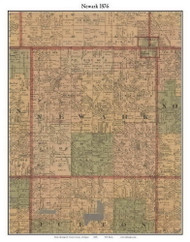 Newark, Michigan 1876 Old Town Map Custom Print - Gratiot Co.