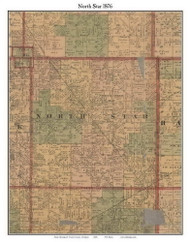 North Star, Michigan 1876 Old Town Map Custom Print - Gratiot Co.