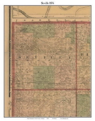 Seville, Michigan 1876 Old Town Map Custom Print - Gratiot Co.