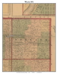 Wheeler, Michigan 1876 Old Town Map Custom Print - Gratiot Co.