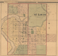 St. Louis, Michigan 1876 Old Town Map Custom Print - Gratiot Co.