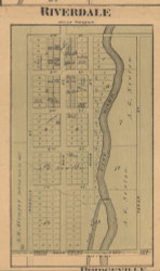 Riverdale, Michigan 1876 Old Town Map Custom Print - Gratiot Co.