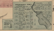 Shiawassee Village, Michigan 1859 Old Town Map Custom Print - Shiawassee Co.