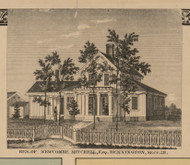 Residence of Newcombe Mitchell, Michigan 1859 Old Town Map Custom Print - Shiawassee Co.
