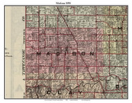 Madison, Indiana 1898 Old Town Map Custom Print - Carroll Co.