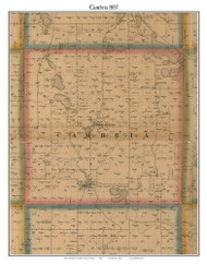 Cambria, Michigan 1857 Old Town Map Custom Print - Hillsdale Co.