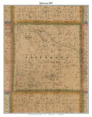 Jefferson, Michigan 1857 Old Town Map Custom Print - Hillsdale Co.