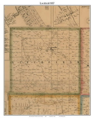 Litchfield, Michigan 1857 Old Town Map Custom Print - Hillsdale Co.