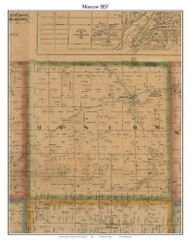 Moscow, Michigan 1857 Old Town Map Custom Print - Hillsdale Co.