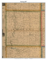 Reading, Michigan 1857 Old Town Map Custom Print - Hillsdale Co.