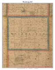Woodbridge, Michigan 1857 Old Town Map Custom Print - Hillsdale Co.