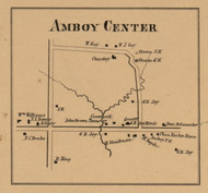 Amboy Center, Michigan 1857 Old Town Map Custom Print - Hillsdale Co.