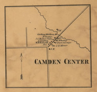 Camden Center, Michigan 1857 Old Town Map Custom Print - Hillsdale Co.