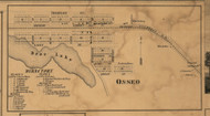 Osseo, Michigan 1857 Old Town Map Custom Print - Hillsdale Co.