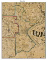 Centre, Indiana 1860 Old Town Map Custom Print - Dearborn Co.