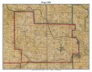 Hogan, Indiana 1860 Old Town Map Custom Print - Dearborn Co.