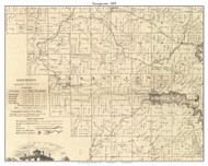 Georgetown, Indiana 1859 Old Town Map Custom Print - Floyd Co.