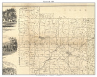 Greenville, Indiana 1859 Old Town Map Custom Print - Floyd Co.