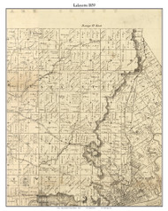 Lafayette, Indiana 1859 Old Town Map Custom Print - Floyd Co.