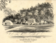 Farnsley Residence, Harrison County, Indiana 1859 Old Town Map Custom Print - Floyd Co.