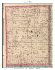 Adams, Indiana 1866 Old Town Map Custom Print - Hamilton Co.