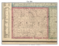 Clay, Indiana 1866 Old Town Map Custom Print - Hamilton Co.