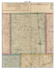 Jackson, Indiana 1866 Old Town Map Custom Print - Hamilton Co.