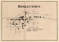 Boxleytown Village, Adams, Indiana 1866 Old Town Map Custom Print - Hamilton Co.