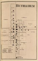 Bethlehem Village, Clay, Indiana 1866 Old Town Map Custom Print - Hamilton Co.
