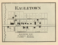 Eagletown Village, Washington, Indiana 1866 Old Town Map Custom Print - Hamilton Co.
