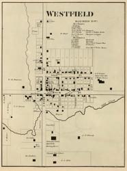 Westfield Village, Washington, Indiana 1866 Old Town Map Custom Print - Hamilton Co.