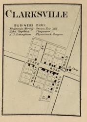 Clarksville Village, Wayne, Indiana 1866 Old Town Map Custom Print - Hamilton Co.