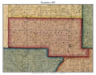 Greensboro, Indiana 1857 Old Town Map Custom Print - Henry Co.