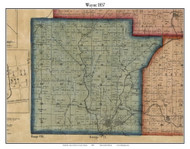 Wayne, Indiana 1857 Old Town Map Custom Print - Henry Co.