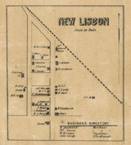 New Lisbon Village, Dudley, Indiana 1857 Old Town Map Custom Print - Henry Co.
