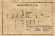 Mechanicsburg Village, Fall Creek, Indiana 1857 Old Town Map Custom Print - Henry Co.