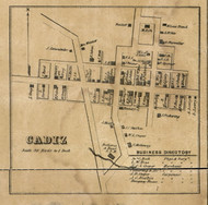 Cadiz Village, Harrison, Indiana 1857 Old Town Map Custom Print - Henry Co.