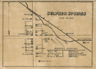 Sulphur Springs Village, Jefferson, Indiana 1857 Old Town Map Custom Print - Henry Co.