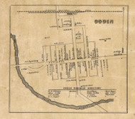 Ogden, Spiceland, Indiana 1857 Old Town Map Custom Print - Henry Co.