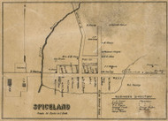 Spiceland Village, Spiceland, Indiana 1857 Old Town Map Custom Print - Henry Co.