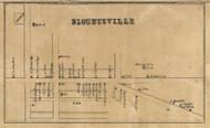 Blountsville Village, Stony Creek, Indiana 1857 Old Town Map Custom Print - Henry Co.