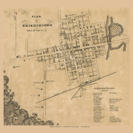 Knightstown Village, Wayne, Indiana 1857 Old Town Map Custom Print - Henry Co.