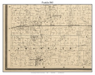Franklin, Indiana 1865 Old Town Map Custom Print - Hendricks Co.
