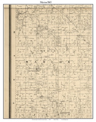 Marion, Indiana 1865 Old Town Map Custom Print - Hendricks Co.