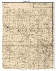 Middle, Indiana 1865 Old Town Map Custom Print - Hendricks Co.