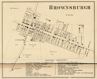 Brownsburgh Village, Brown, Indiana 1865 Old Town Map Custom Print - Hendricks Co.