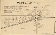 West Milton Village, Clay, Indiana 1865 Old Town Map Custom Print - Hendricks Co.