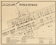 Stilesville Village, Franklin, Indiana 1865 Old Town Map Custom Print - Hendricks Co.