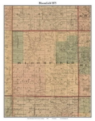 Bloomfield, Michigan 1875 Old Town Map Custom Print - Huron Co.