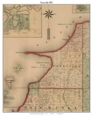Caseville, Michigan 1875 Old Town Map Custom Print - Huron Co.